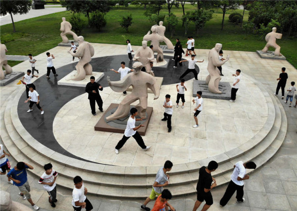 Young Learners Practise Tai Chi in Henan Province